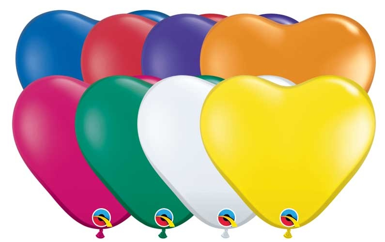 Pack of 100 Fantasy Assortment Qualatex 11 Round Jewel Balloons