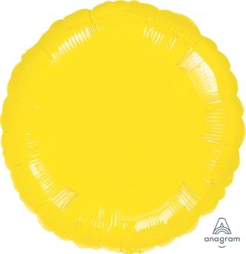 Anagram 00681 Round Black Foil Balloon 18,