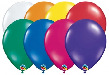 "Q (100) 5"" Jewel Assorted"
