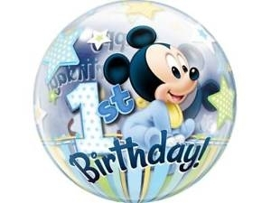 "22"" Bubble - Mickey Mouse 1st Birthday"