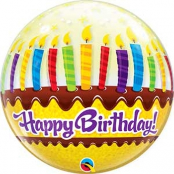 "22"" Bubble - Birthday Candles & Frosting"