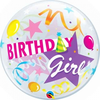 "22"" Bubble - Birthday Girl Party Hat"