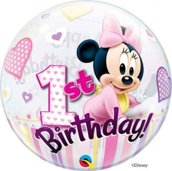 "22"" Bubble - Minnie Mouse 1st Birthday"