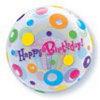 "22"" Bubble - Birthday Cupcake & Dots"