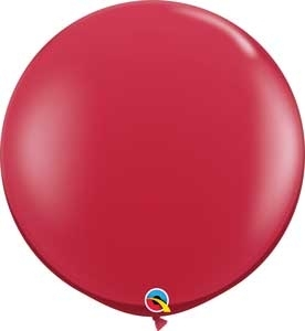 "Q (2) 36"" Jewel Ruby Red"