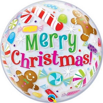 "X - 22"" Bubble Candies & Treats Merry Christmas"