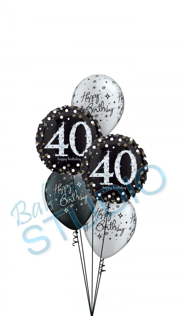 40th Birthday Balloon Bouquet Balloons Vancouver Jc Balloon Studio