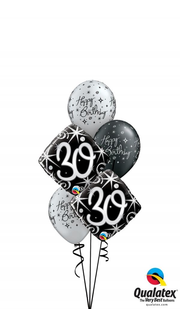 Milestone 30th Birthday Bouquet 21 Balloons Vancouver Jc Balloon Studio