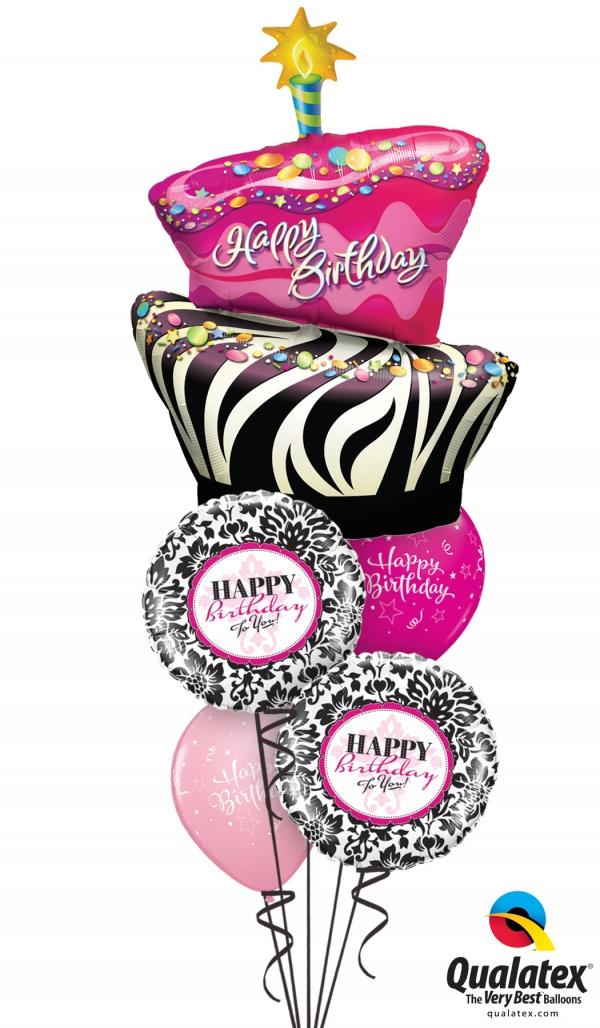 Outstanding Birthday Cake Bouquet 12 Balloons Vancouver Jc Balloon Studio Birthday Cards Printable Trancafe Filternl